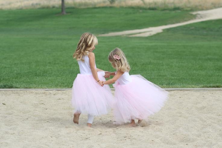 Princess dress, Ballerina dress, Party costume, Flower girl, Tutu, Easter dress for toddler and baby girls, pink white.. $48.00, via Etsy.