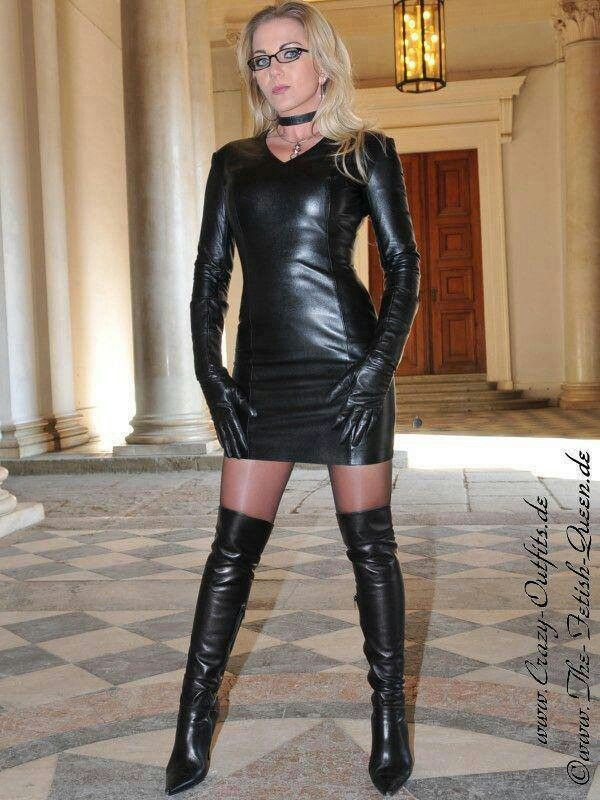 Leather Woman Leather Fashion Thigh High Boots Leather