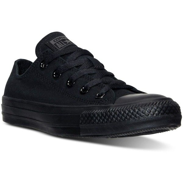 Converse Women's Chuck Taylor Ox Casual Sneakers from Finish Line found on Polyvore featuring shoes, sneakers, converse sneakers, cocktail shoes, american shoes, converse footwear and holiday shoes
