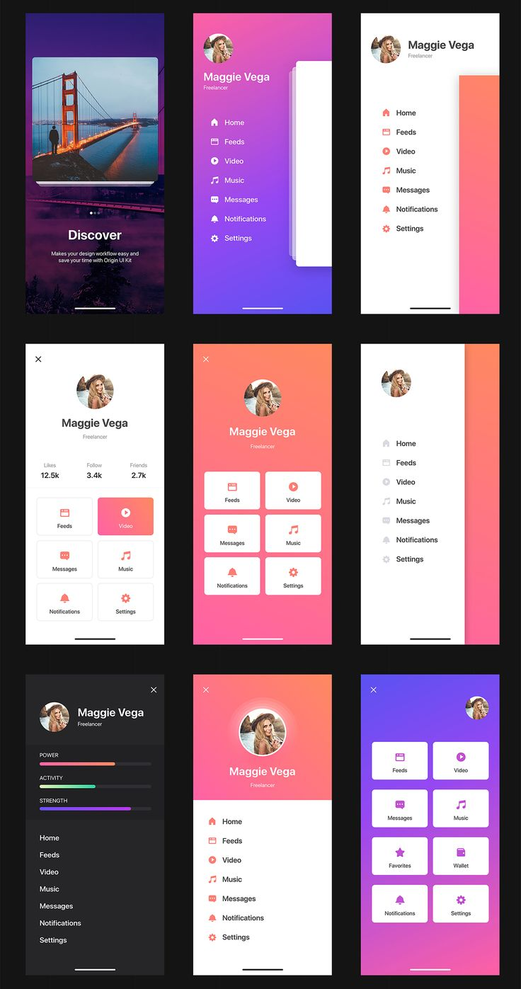 The Origin UI Kit is a huge mobile screens and components with trendy design tha…