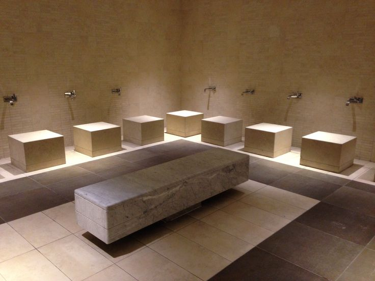 Ablutions area - Inspiration for Mosque at University Campus in Middle East by SI Architects