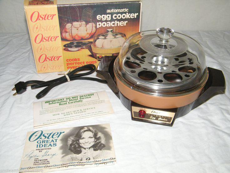 Salton Egg Cooker ~ New in box vintage oster automatic egg cooker poacher