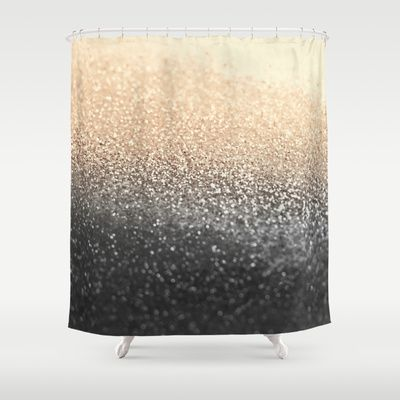 GATSBY BLACK GOLD Shower Curtain by Monika Strigel - $68.00