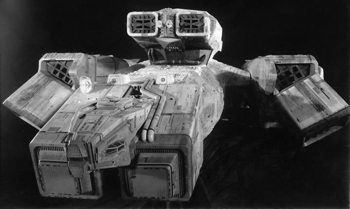 Nostromo from the first Alien movie. I still think it's in the cat.