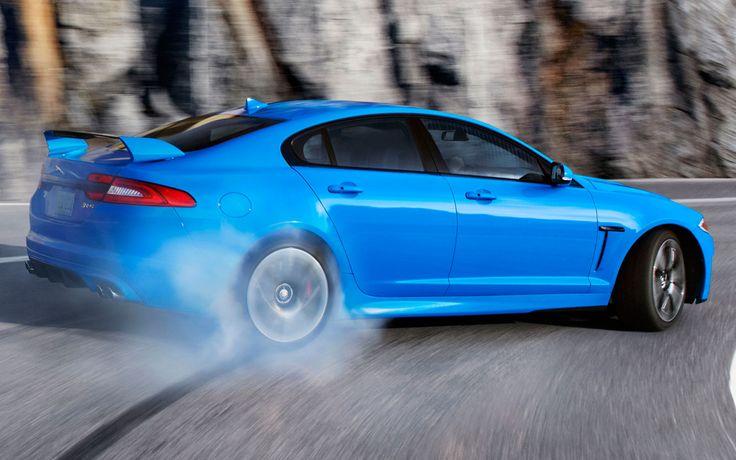 2014 Jaguar XFR-S drifting