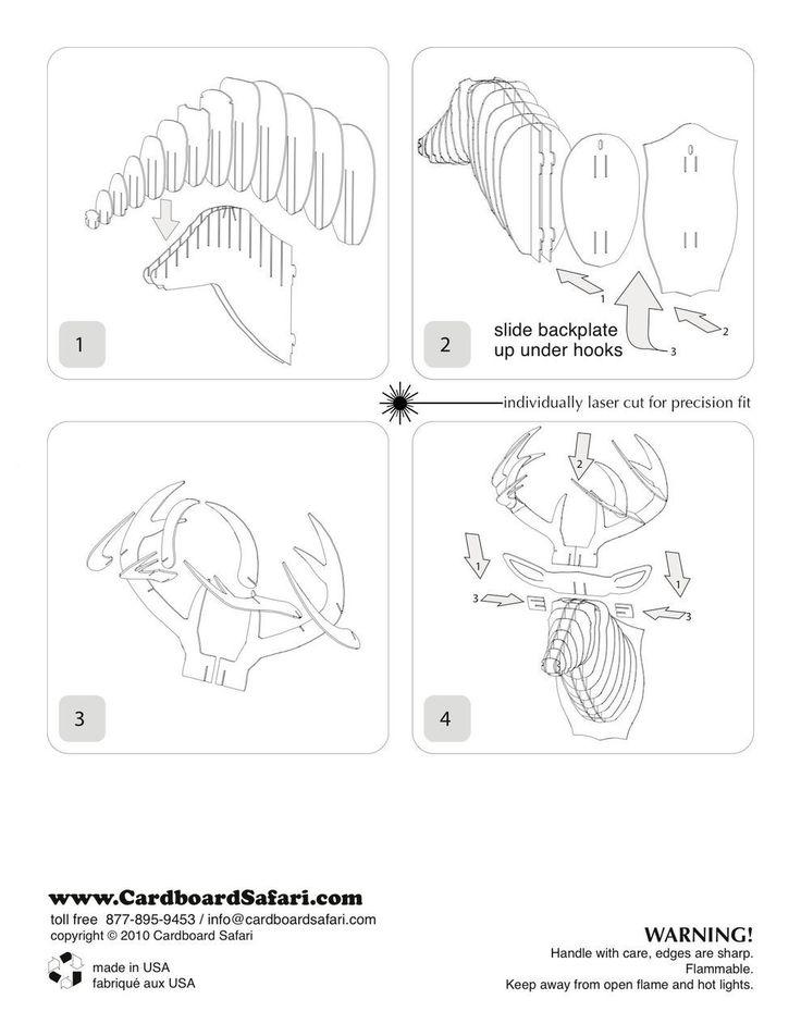 The 25 best cardboard deer heads ideas on pinterest pictures of bucky cardboard deer head pronofoot35fo Gallery