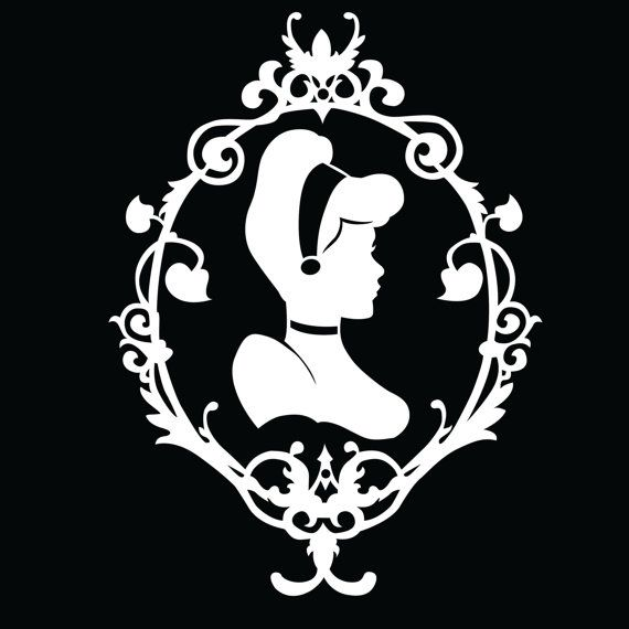 Would be a cute tattooPrintable Cinderella Silhouette