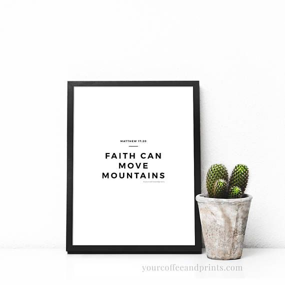 faith can move mountains svg SALE quotes quote print