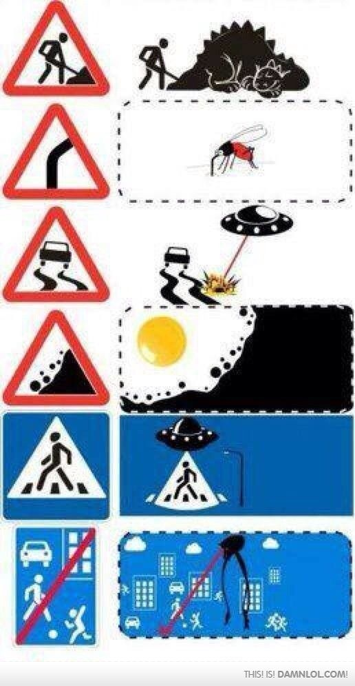 If they expanded road signs