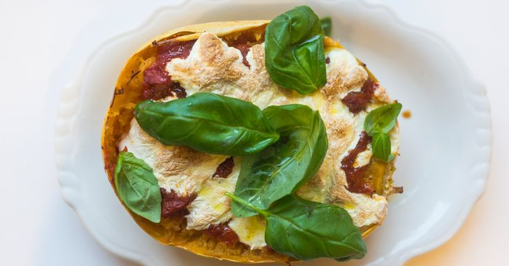 Add cheese and sauce to spaghetti squash for the easiest meal.