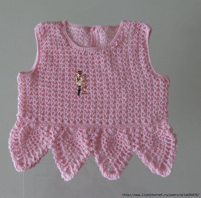 Olha que graça esta blusa sobre saia de organza, Nao tenho receita mas pode-se aproveitar a ideia e fazer com o ponto que quizer. Achei muit...