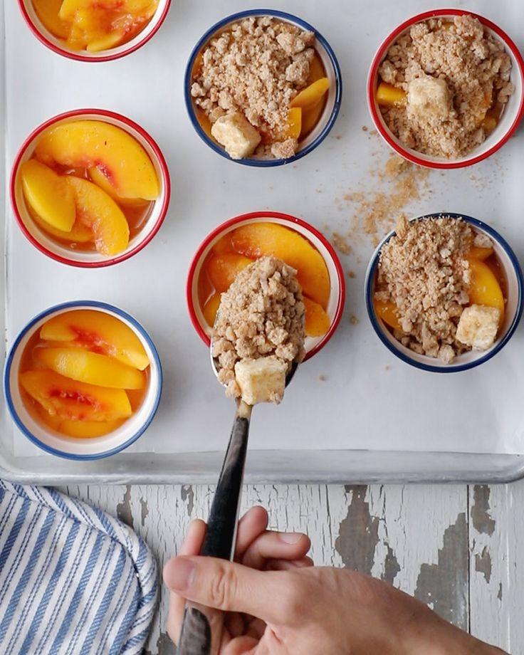 Mini Peach Cobblers