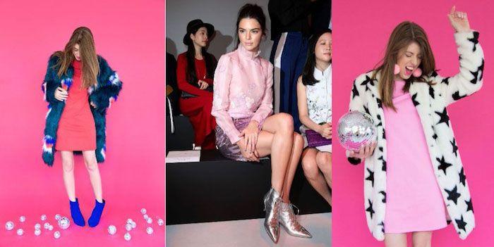 silvester kleider pinke ideen rosakleid mit weißem mantel sterne silberne schuhe spitzeschuhe apfelfarbe