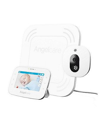 The AC315 video,  movement and sound monitor not only looks the part but can be trusted, day and night. The adjustable camera and pan and zoom feature allows you to see your baby from close up or far away, ensuring they are sleeping safely. The sound monitoring is crystal clear with minim0ised interference and optimised security, while the sensor pad will sound an alarm if no movement is detected after 20 seconds.