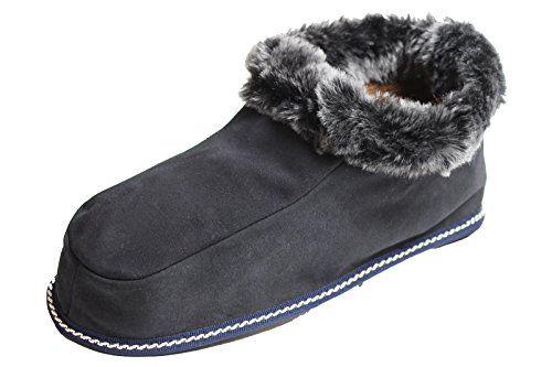 Warme Damen oder Herren aus echtem Lammfell Hausschuhe Blau Gr. 40 - http://on-line-kaufen.de/brubaker/40-eu-brubaker-damen-oder-herren-hausschuhe-aus-gr
