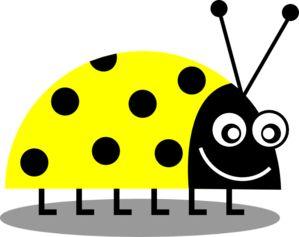 Yellow Ladybug Clip Art