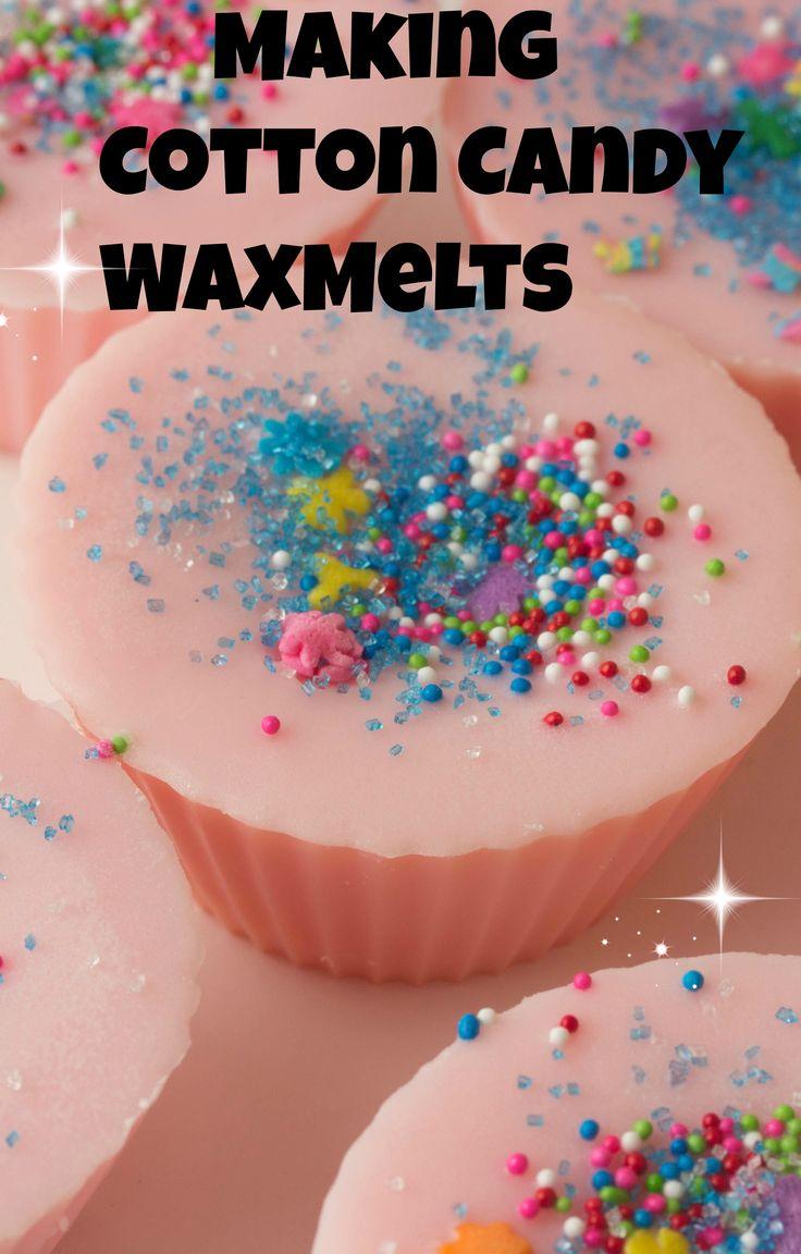 Making Fairy Floss Wax Melts