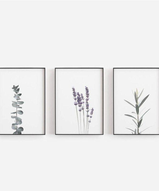 Watercolour Lavender Canvas Art Print And Poster Botanical Canvas Painting Farmhouse Decor Eucalyptus Art Prints Wall Decor In 2020 Canvas Art Wall Decor Canvas Art Prints Canvas Painting