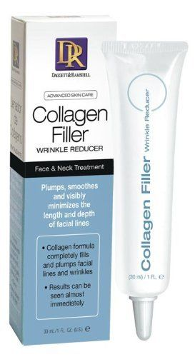 Dagget & Ramsdell Collagen Filler Wrinkle Reducer by Daggett & Ramsdell. $7.20. Premiere face and neck treatment. Plumps, smoothes and visibly minimizes the length and depth of facial lines. Collagen formula completely fills and plumps facial lines and wrinkles. Results can be seen almost immediately. Advanced Skin Care Collagen Filler Wrinkle Reducer is the ultimate face and neck treatment