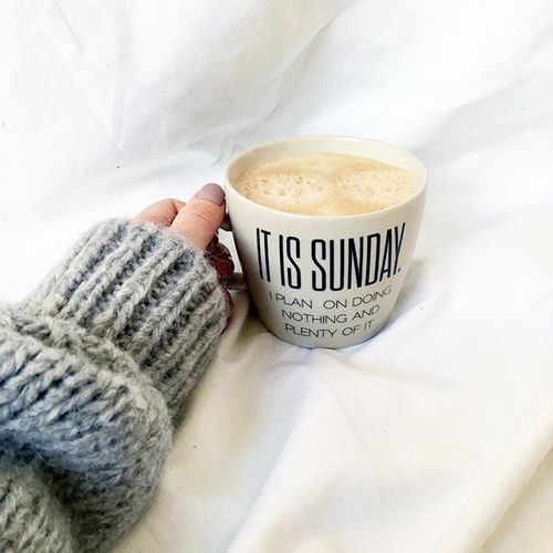 It is Sunday -- coffee time