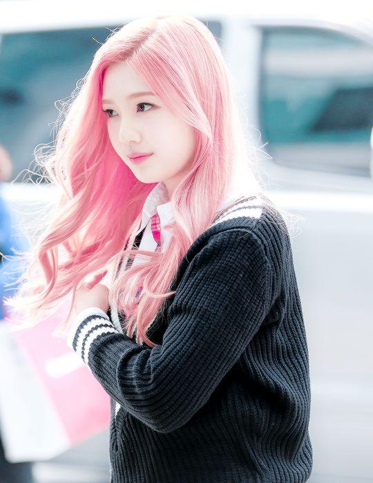 Red Velvet Joy- cute pastel pink hair