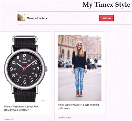 Congrats @MonicaForbes one of the winners in #TimexCanada Weekender contest!