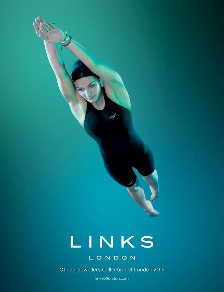 Swimmer Keri-anne Payne, the Links of London 2012 Olympic Ambassador.