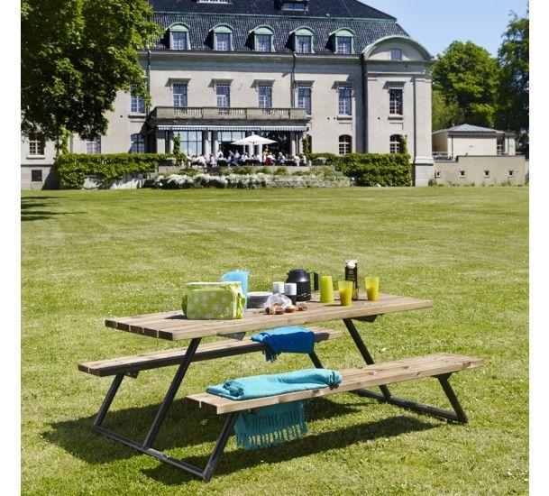 Stockholm Picnic bord - natur - FSC godkendt fyrtræ