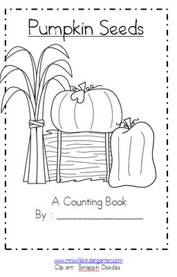 Mrs. Wills Kindergarten: Fall Goodies...Monsters and a Pumpkin FREEBIE. Cute idea for the little ones.  Also, a cute idea for the nursery children at church!