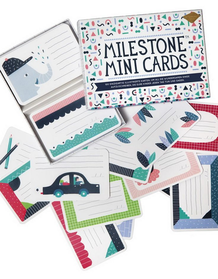 Milestone Mini Cards  Remember the things that make you smile