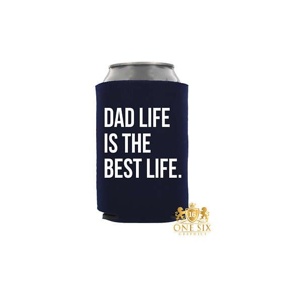 Dad Life Is The Best Life Beer Hugger. Farter Of The Year. I #dadlifeisthebestlife #fathersday #hubby #husband #dad #daddy #papa #koozie #coolie #mr #love #wife #drinkup #onesixgraphics