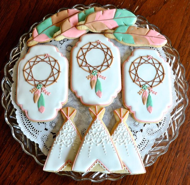 Bohemian Themed Baby Shower | Cookie Connection