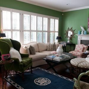 Eclectic Preppy Living Room
