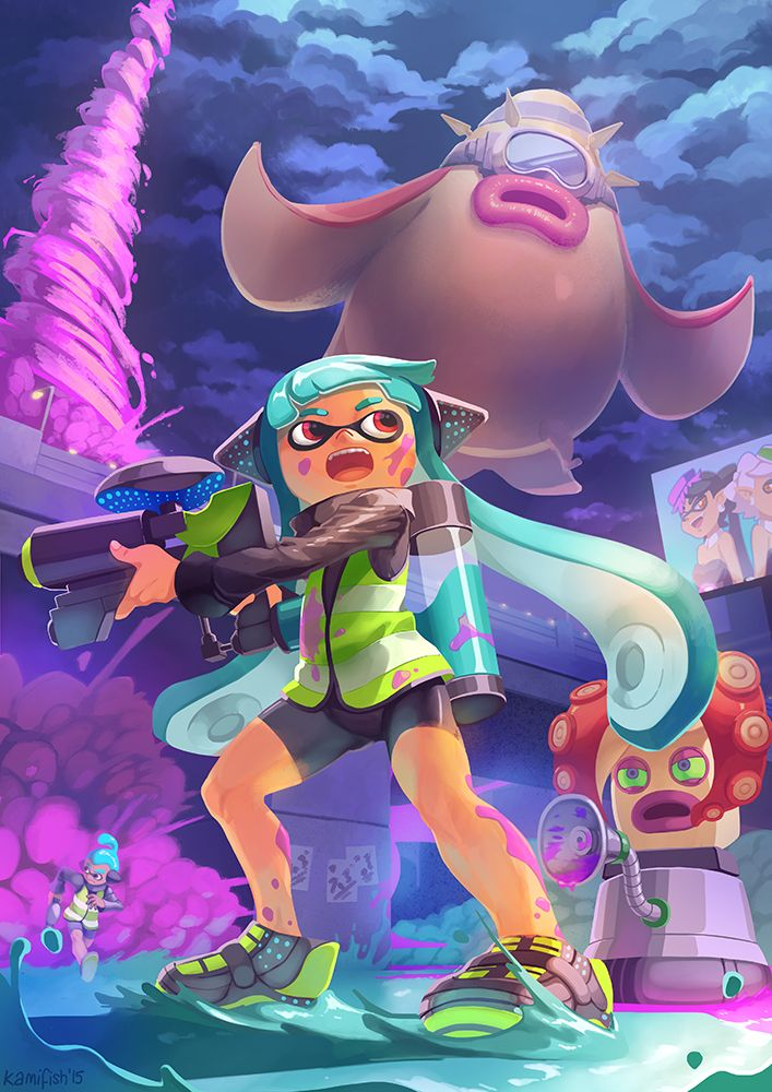 Love playing Splatoon! It's a great game for... - kamifish - Yeppp its great fighting flabby amputated tentacles