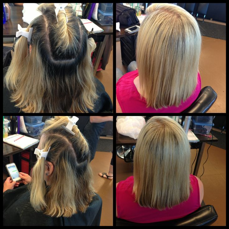 Before And After Full Head Of Highlights And 83 Foils