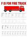 F is for firetruck tracing page