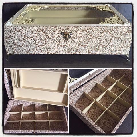 Caixa porta jóias. #arte #artesanato #ateliemiarteira #craft #caixaportajoias #caixapersonalizada #feitoamao #handmade #miarteira