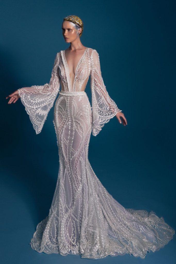 trouwjurken met cut-outs de trend voor 2019 - in white | boda