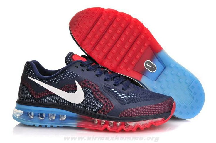 Nike Air Max 2014 Mens Midnight Navy Cym Red and Blue Lemonade 621077 416  /Half Price Nike Air Max 2014