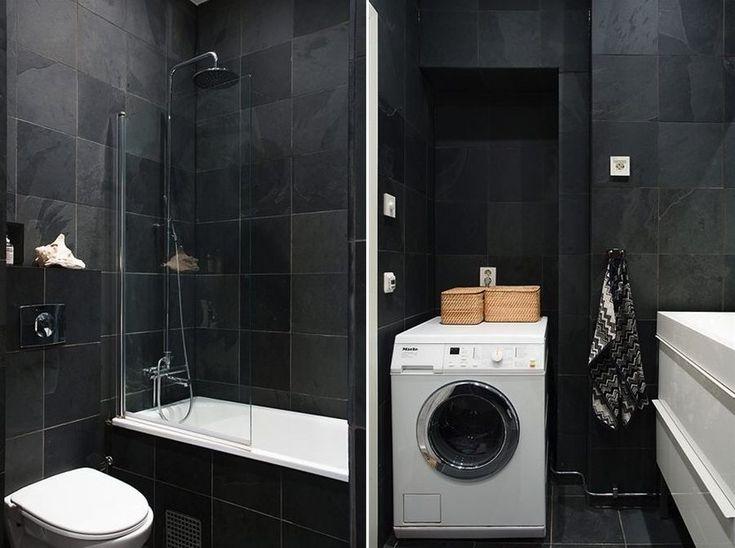 Small Bathroom Black And White Decor Recherche Google