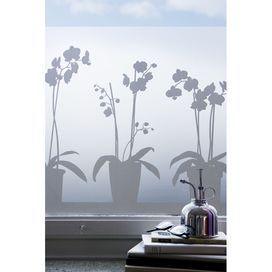 Film adhésif pour vitrage Orchidées