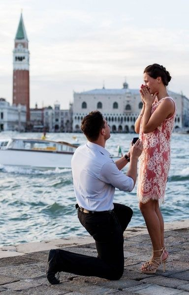 Heartwarming engagement photo from Venice, Italy | Luca Fazzolari Photography