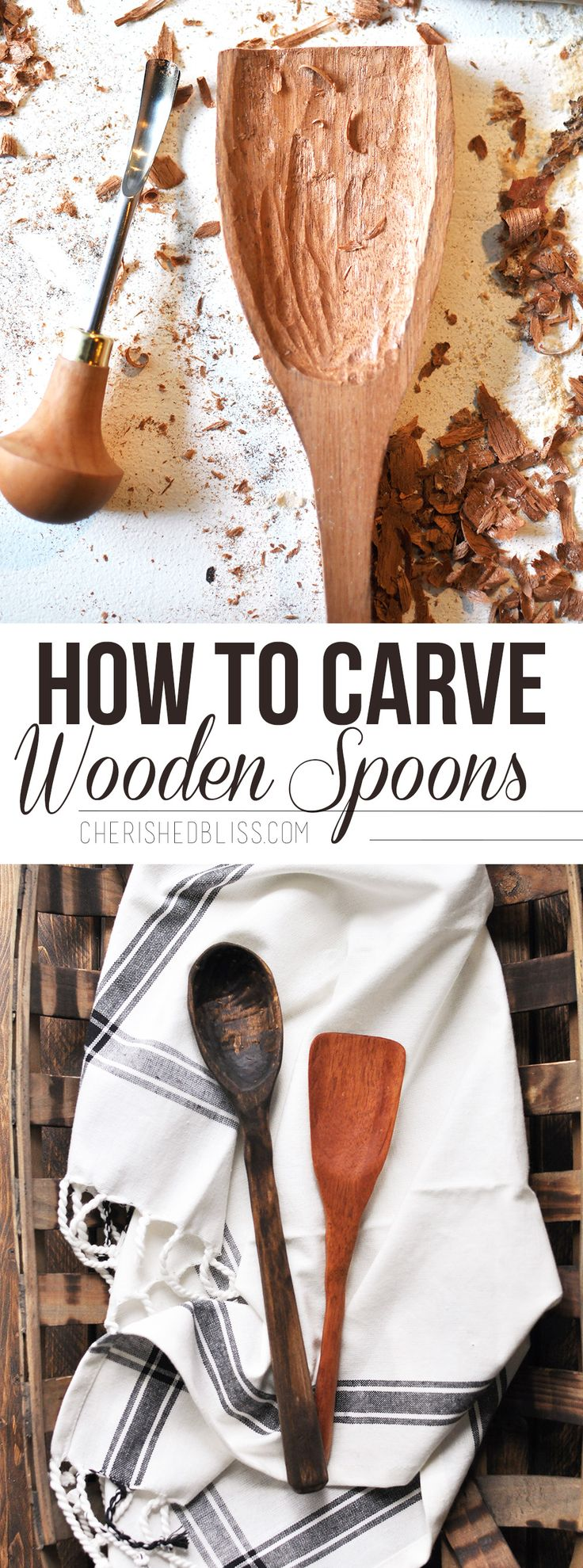 Create a meaningful and memorable gift for your loved ones with this easy to follow tutorial on how to Carve Wooden Spoons!