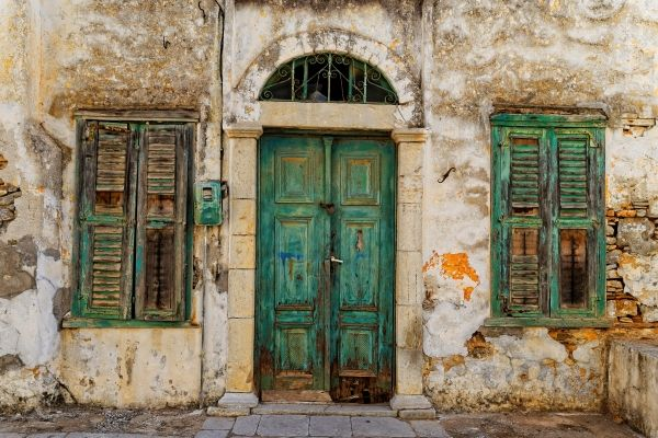 Old house in Simi island, Greece