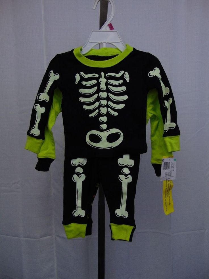 Joe Boxer Infant Halloween Outfit 2-Pack Skeleton & Frankenstein 12 Months #1632 #JoeBoxer #TwoPiece