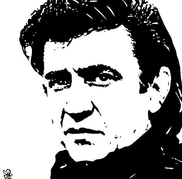 Johnny Cash Paintings For Sale