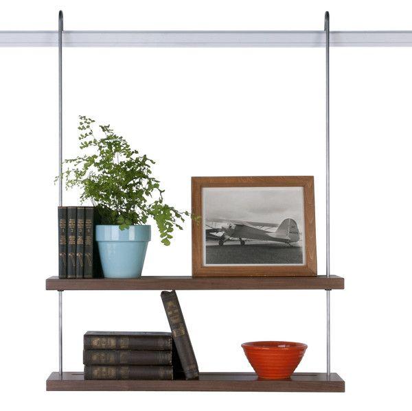 Best Double Shelf In Walnut Shelves Solid Wood Shelves 400 x 300