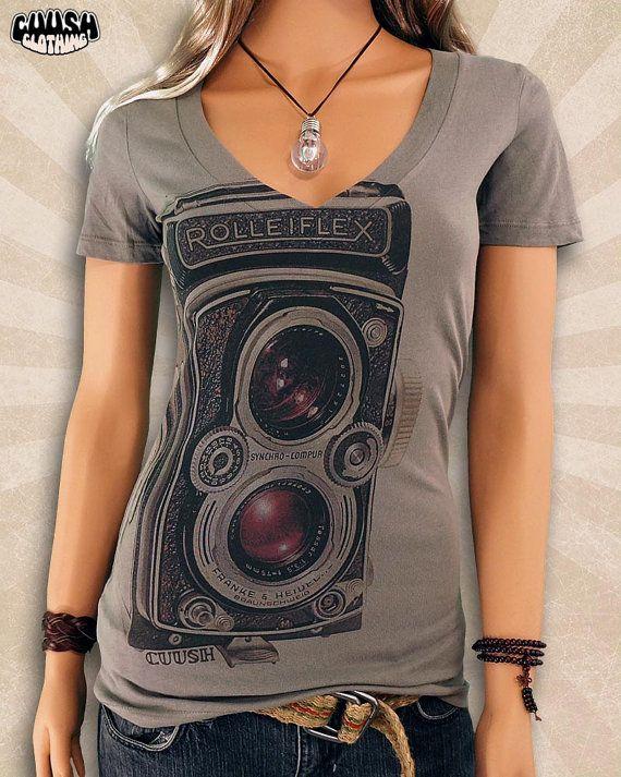 Rollei Camera T Shirt  Rolleiflex Shirt  Vintage T Shirt