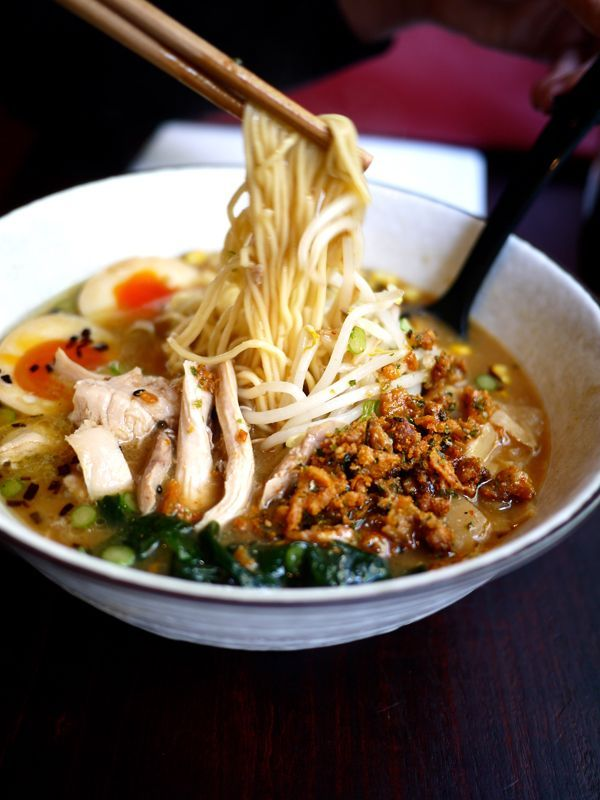 Bone Daddies. Amazing ramen in Soho. Very relaxed, they play old school rock & roll and you sit up at bars. Not expensive, no reservations.Londoner Com Ramen, Recipe, Street London, Ramen Noodles, Food, Daddy Ramen, London Restaurants, Amahz Ramen, Bones Daddy
