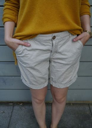 Hübsche #Caprishorts frisch auf #Kleiderkreisel http://www.kleiderkreisel.de/damenmode/caprihosen/135976822-bequeme-capri-shorts-in-beige-von-hm